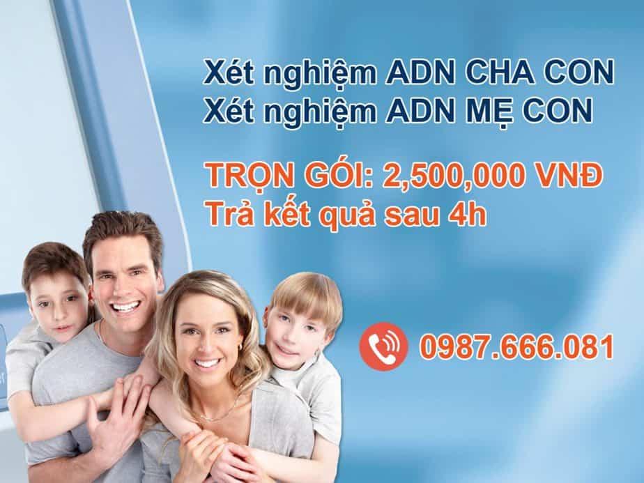 giá xét nghiệm adn tại hà nội